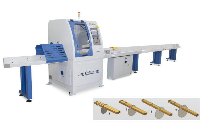 Automatic Wood Cross Cut Off Saw for Pallet